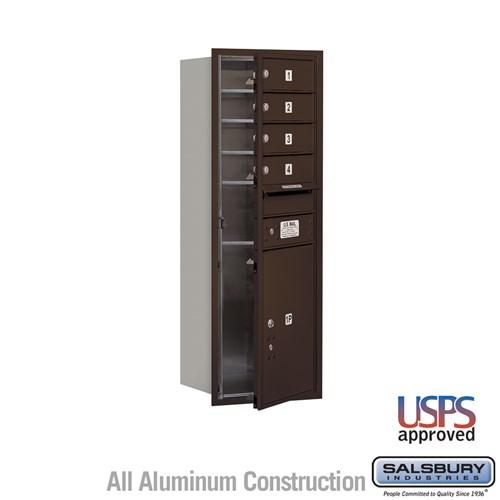 4c Recessed Usps Mailbox Bronze 4 Doors Front Load Mailboxes Com