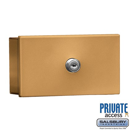 Key Keeper (Includes Commercial Lock) - Brass - Surface Mounted - Private Access
