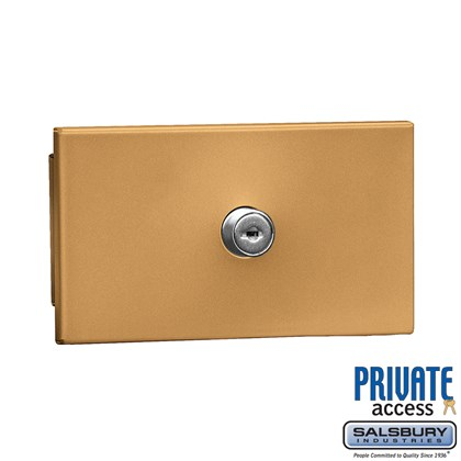 Key Keeper (Includes Commercial Lock) - Brass - Recessed Mounted - Private Access