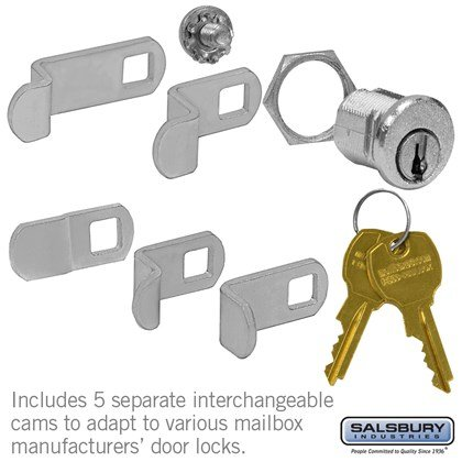 Universal Lock - for 4B+ Horizontal and Vertical Style Mailbox Door - with (2) Keys