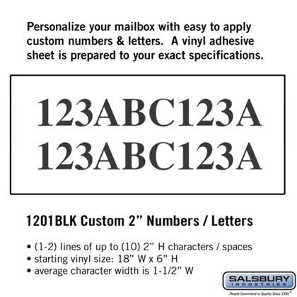 Custom Numbers / Letters - Horizontal 2