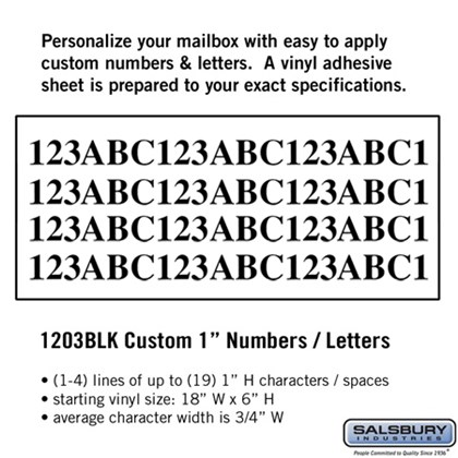 Custom Numbers / Letters - Horizontal 1
