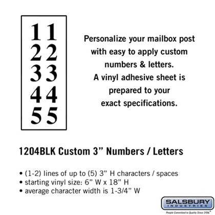 Custom Numbers / Letters - Vertical 3