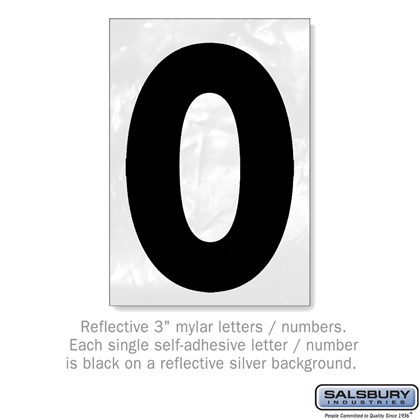 Reflective Number - 3 Inches - 0