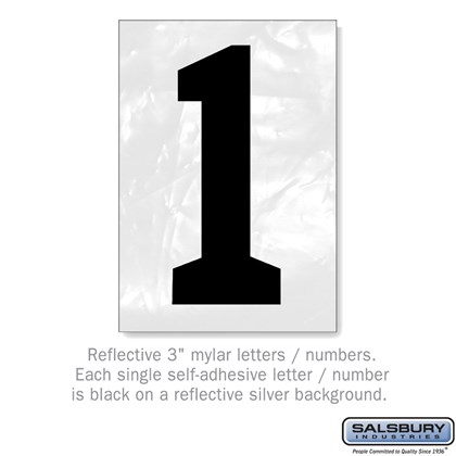 Reflective Number - 3 Inches - 1