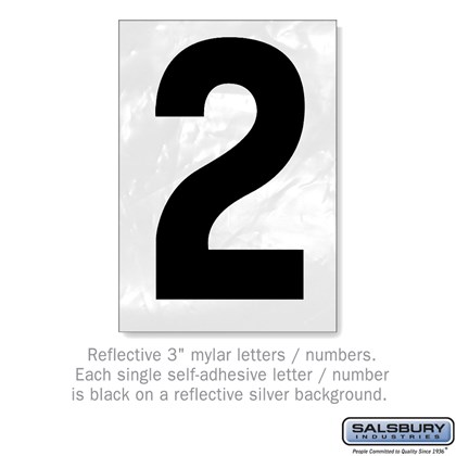 Reflective Number - 3 Inches - 2