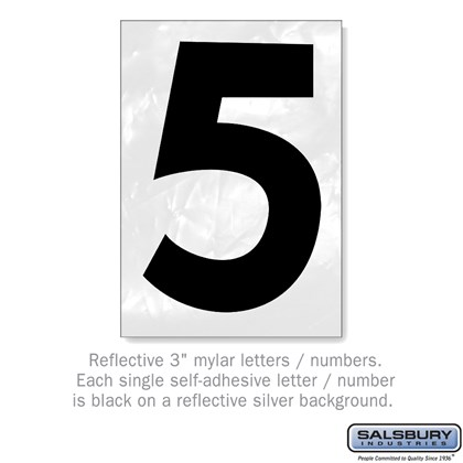 Reflective Number - 3 Inches - 5
