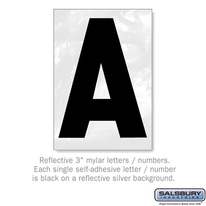 Reflective Letter - 3 Inches - A