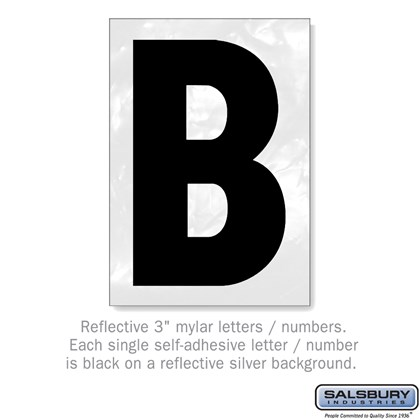 Reflective Letter - 3 Inches - B