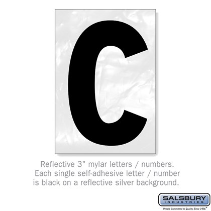 Reflective Letter - 3 Inches - C