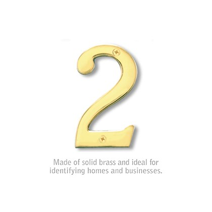 Solid Brass Number - 4 Inches - 2