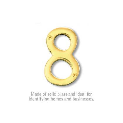 Solid Brass Number - 4 Inches - 8