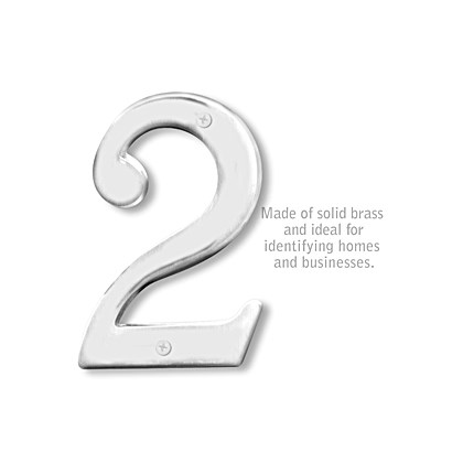 Solid Brass Number - 6 Inches - 2