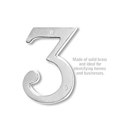 Solid Brass Number - 6 Inches - 3