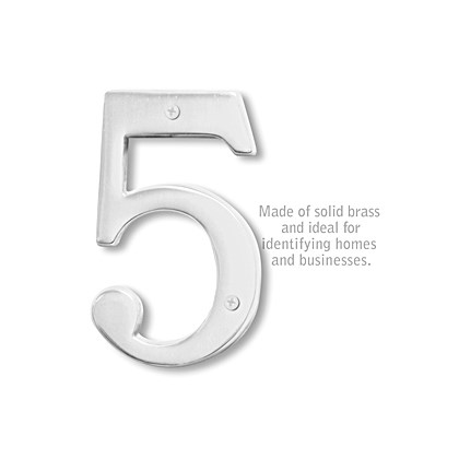 Solid Brass Number - 6 Inches - 5