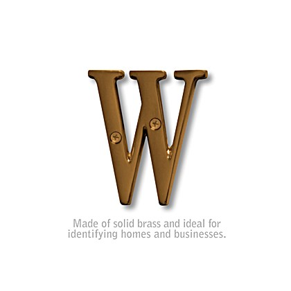 Solid Brass Letter - 3 Inches - W