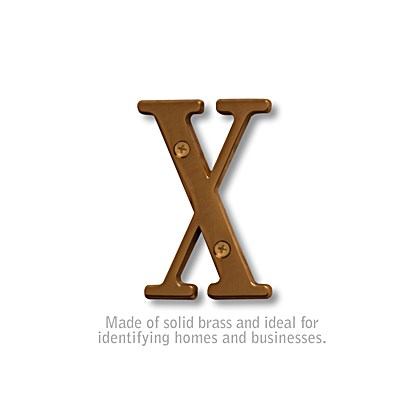 Solid Brass Letter - 3 Inches - X