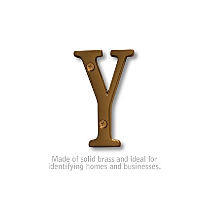 Solid Brass Letter - 3 Inches - Y