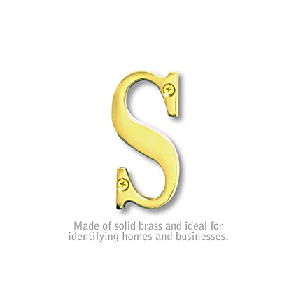 Solid Brass Letter - 3 Inches - S