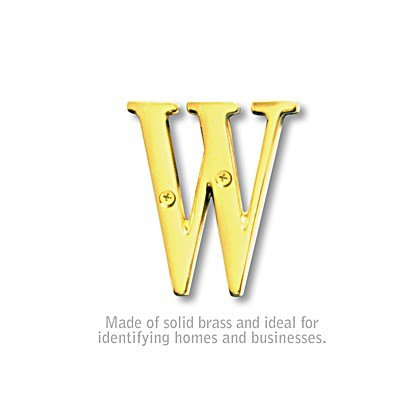 Solid Brass Letter - 3 Inches - Brass Finish - W