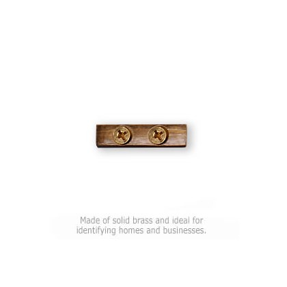 Solid Brass Punctuation Mark - Hyphen
