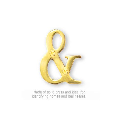 Solid Brass Punctuation Mark - Brass Finish - Ampersand