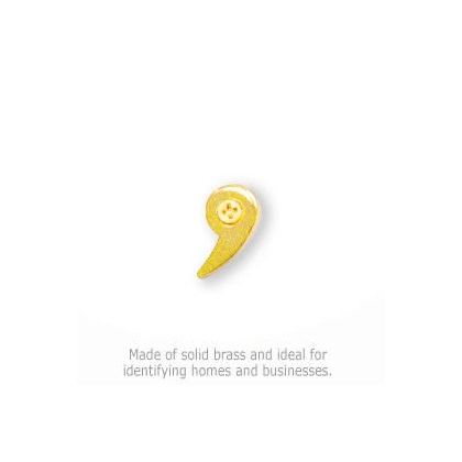 Solid Brass Punctuation Mark - Comma