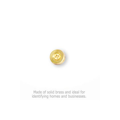 Solid Brass Punctuation Mark - Brass Finish - Period