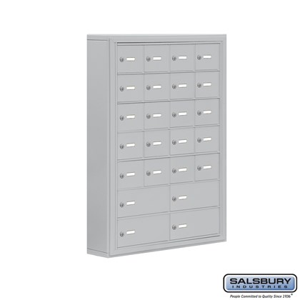 Cell Phone Storage Locker - 7 Door High Unit (5 Inch Deep Compartments) - 20 A Doors and 4 B Doors- Surface Mounted - Master Keyed Locks