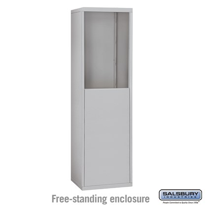 Free-Standing Enclosure for #19055-15, #19058-15, #19155-15 and #19158-15 - Recessed Mounted Cell Phone Lockers