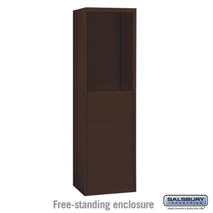 Free-Standing Enclosure for #19055-15, #19058-15, #19155-15 and #19158-15 - Recessed Mounted Cell Phone Lockers - Bronze
