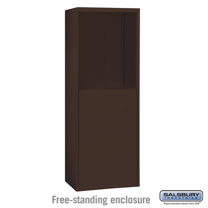 Free-Standing Enclosure for #19055-10, #19058-10, #19055-16, #19058-16, #19055-20,  #19058-20, #19155-10, #19158-10, #19155-16, #19158-16, #19155-20 and #19158-20 - Recessed Mounted Cell Phone Lockers - Bronze