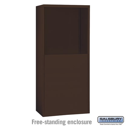 Free-Standing Enclosure for #19055-25, #19058-25, #19155-25 and #19158-25 - Recessed Mounted Cell Phone Lockers - Bronze