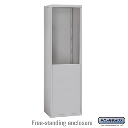 Free-Standing Enclosure for #19065-18, #19068-18, #19165-18 and #19168-18 - Recessed Mounted Cell Phone Lockers