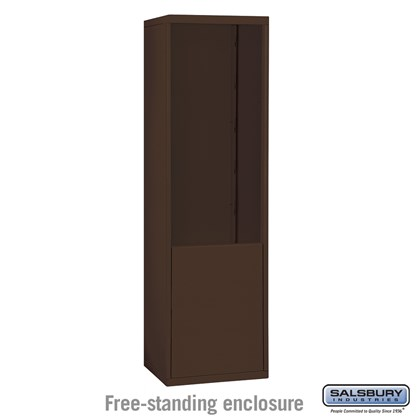 Free-Standing Enclosure for #19075-21, #19078-21, #19175-21 and #19178-21 - Recessed Mounted Cell Phone Lockers - Bronze