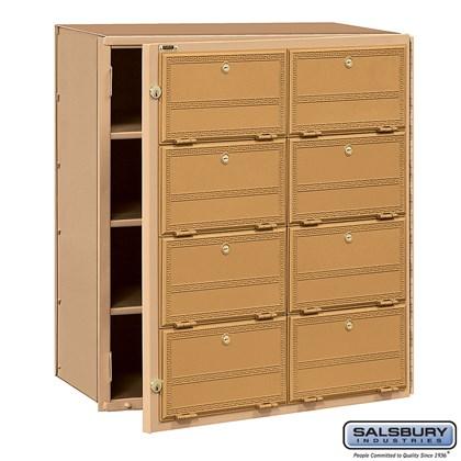 Americana Mailbox - 8 Doors - Front Loading