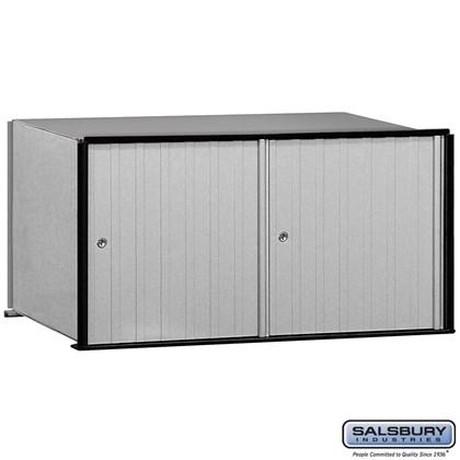 Aluminum Mailbox - 2 Doors - Rack Ladder System