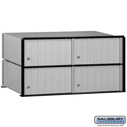 Aluminum Mailbox - 4 Doors - Rack Ladder System