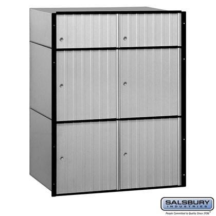 Aluminum Mailbox - 6 Doors  - Standard System