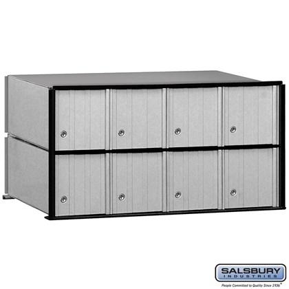 Aluminum Mailbox - 8 Doors - Rack Ladder System