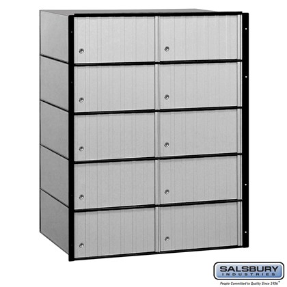 Aluminum Mailbox - 10 Doors - Standard System