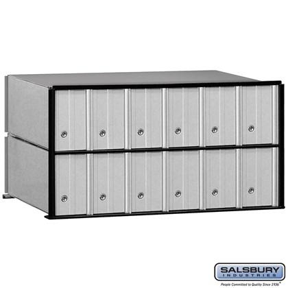 Aluminum Mailbox - 12 Doors - Rack Ladder System