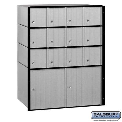 Aluminum Mailbox - 14 Doors - Standard System