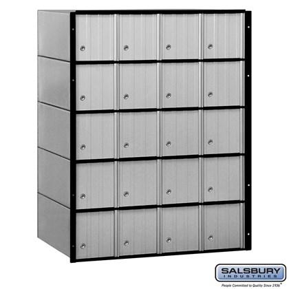 Aluminum Mailbox - 20 Doors - Standard System