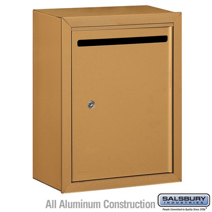 Letter Box (Includes Commercial Lock) - Standard - Surface Mounted - Brass - Private Access