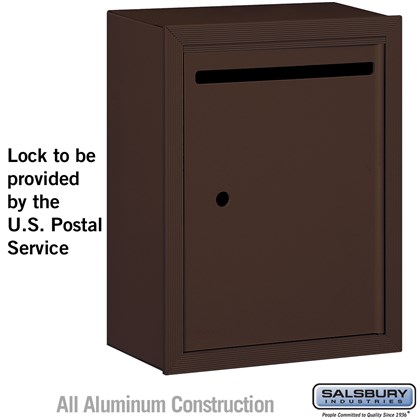 Letter Box - Standard - Surface Mounted - Bronze - USPS Access