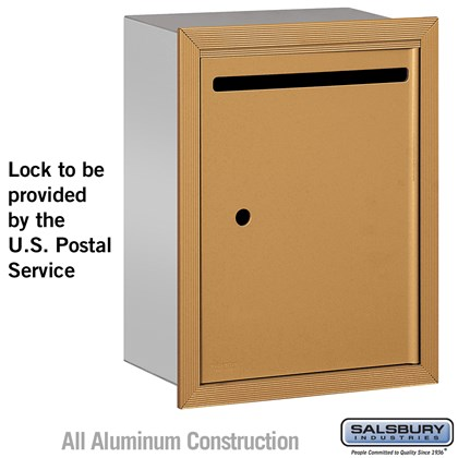 Letter Box - Standard - Recessed Mounted - Brass - USPS Access