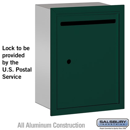 Letter Box - Standard - Recessed Mounted - Green - USPS Access