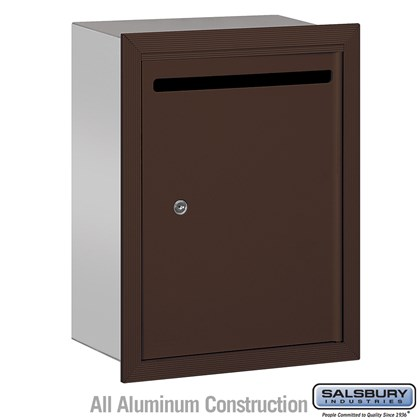 Letter Box (Includes Commercial Lock) - Standard - Recessed Mounted - Bronze - Private Access