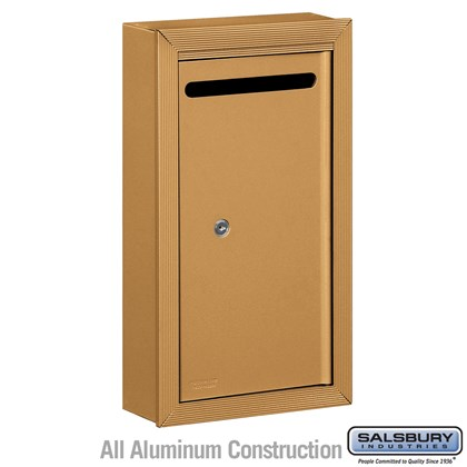 Letter Box (Includes Commercial Lock) - Slim - Surface Mounted - Brass - Private Access